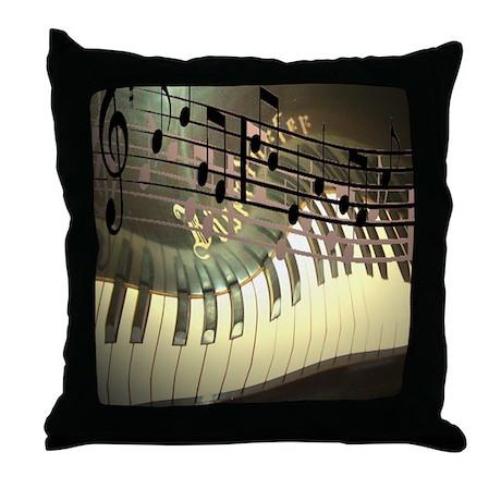 Piano Art Throw Pillow