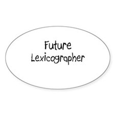 Future Lexicographer Oval Decal