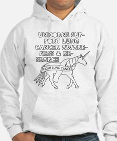 Unicorns Support Lung Cancer Awa Jumper Hoody