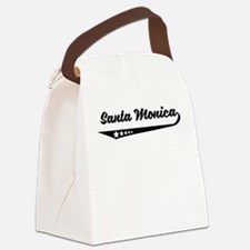 Santa Monica CA Retro Logo Canvas Lunch Bag