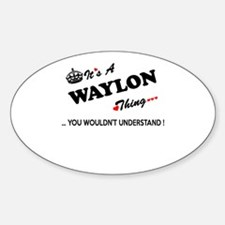 WAYLON thing, you wouldn't understand Decal