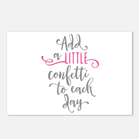 ADD CONFETTI Postcards (Package of 8)