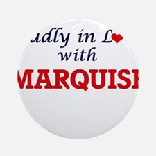 Madly in love with Marquise Round Ornament
