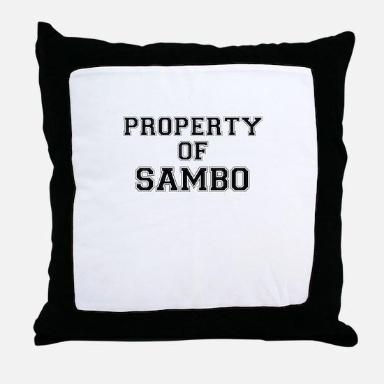 Property of SAMBO Throw Pillow