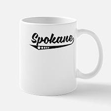 Spokane WA Retro Logo Mugs