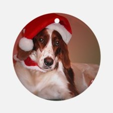 Santa Paws Ornament (Round)