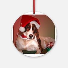 Santa Paws Ornament (Round)