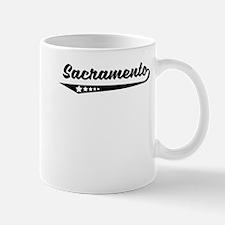 Sacramento CA Retro Logo Mugs