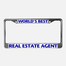 WORLD'S BEST (Blue) License Plate Frame