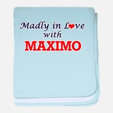 Madly in love with Maximo baby blanket