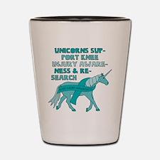 Unicorns Support Knee Injury Awareness Shot Glass