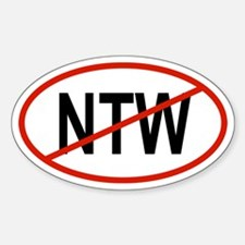 NTW Oval Decal