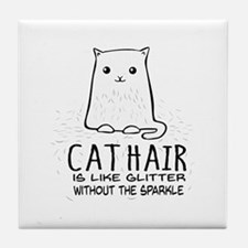 Cat Hair is like Glitter without the sparkle Tile
