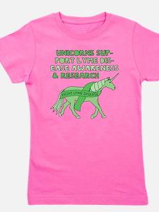Unicorns Support Lyme Disease Awareness Girl's Tee