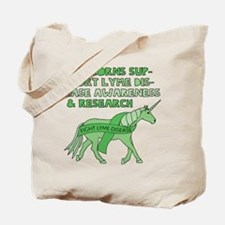 Unicorns Support Lyme Disease Awareness Tote Bag