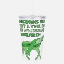Unicorns Support Lyme Acrylic Double-wall Tumbler