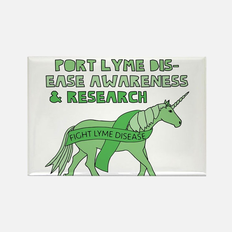 Unicorns Support Lyme Disease Awareness Magnets