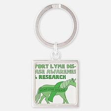 Unicorns Support Lyme Disease Awareness Keychains