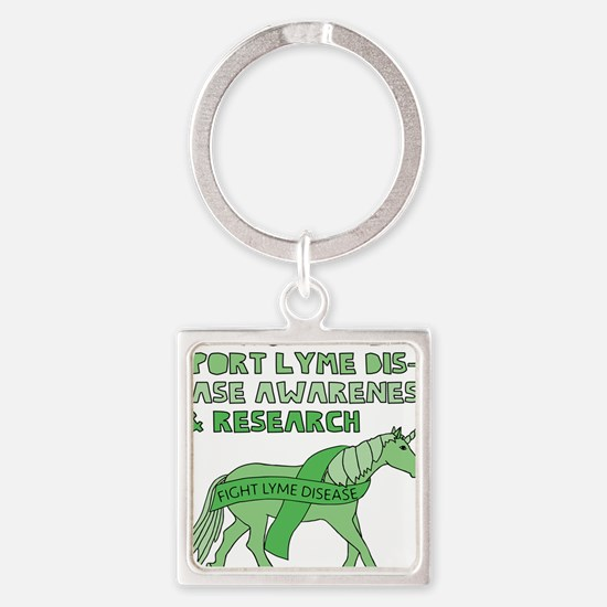 Unicorns Support Lyme Disease Awareness Keychains