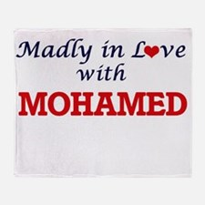 Madly in love with Mohamed Throw Blanket