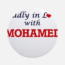 Madly in love with Mohamed Round Ornament