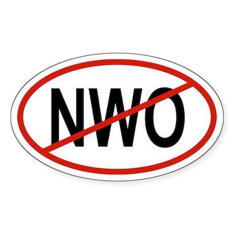 NWO Oval Sticker