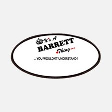 BARRETT thing, you wouldn't understand Patch