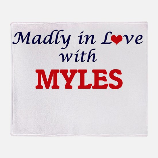Madly in love with Myles Throw Blanket