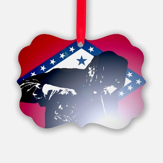 Welding: Arkansas State Flag & We Ornament
