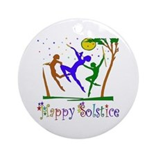 Winter Solstice Dancers Ornament (Round)