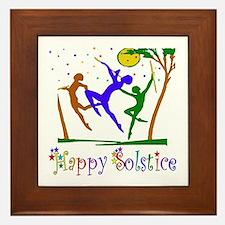 Winter Solstice Dancers Framed Tile