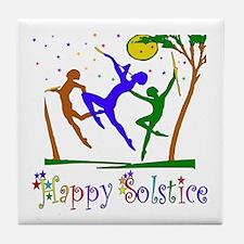 Winter Solstice Dancers Tile Coaster