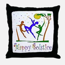 Winter Solstice Dancers Throw Pillow