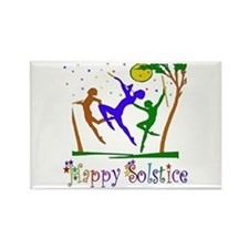 Winter Solstice Dancers Rectangle Magnet