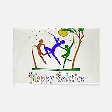 Winter Solstice Dancers Rectangle Magnet (100 pack