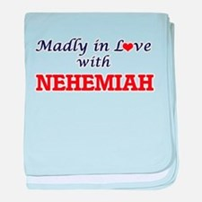 Madly in love with Nehemiah baby blanket