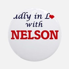 Madly in love with Nelson Round Ornament