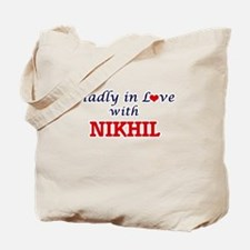 Madly in love with Nikhil Tote Bag