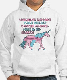 Unicorns Support Male Breast Can Hoodie