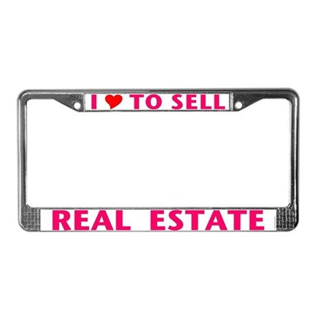 LOVE TO SELL (Pink) License Plate Frame