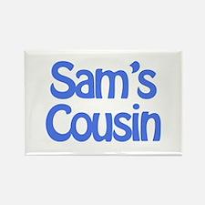 Sam's Cousin Rectangle Magnet
