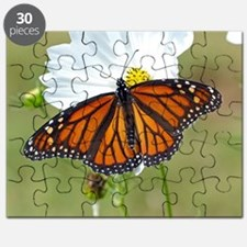 Monarch Butterfly on Cosmos Puzzle