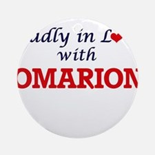 Madly in love with Omarion Round Ornament