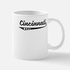 Cincinnati OH Retro Logo Mugs