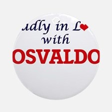 Madly in love with Osvaldo Round Ornament