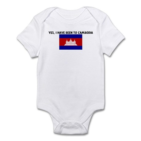 YES I HAVE BEEN TO CAMBODIA Infant Bodysuit