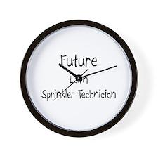 Future Lawn Sprinkler Technician Wall Clock