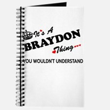 BRAYDON thing, you wouldn't understand Journal