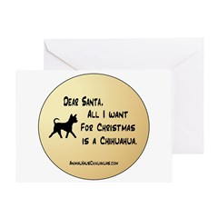 Want A Chihuahua For Christmas Greeting Card
