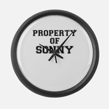 Property of SONNY Large Wall Clock